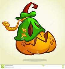 pumpkin mask for halloween creepy vector halloween pumpkin head monster in mask drawn in a
