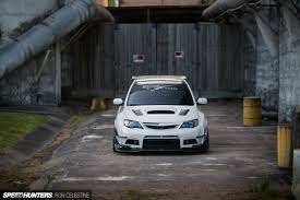 subaru wrx hatch white east meets west in a wide body wrx hatch speedhunters