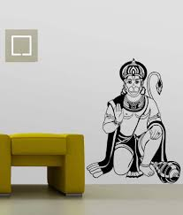Wwe Wall Stickers Trends On Wall Black Pvc Lord Hanuman Wall Sticker Buy Trends On