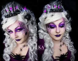spider queen makeup with tutorial by katiealves on deviantart