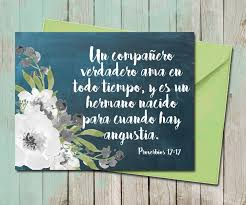 spanish thanksgiving prayer floral friendship greeting card spanish chalkboard proverbios 17