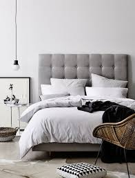 creative of grey headboard double bed best 25 upholstered beds