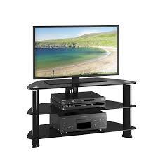 Furniture For Tv Stand Amazon Com Corliving Trl 401 T Laguna Satin Black Corner Tv Stand
