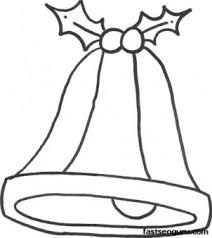printable xmas bell coloring sheet printable coloring pages kids