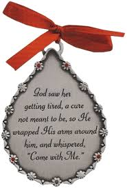 he wrapped his arms around memorial ornament
