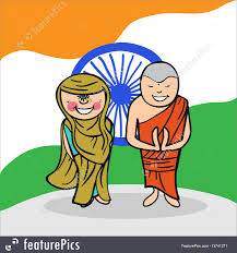 Welcome Flag Illustration Of Welcome To India People