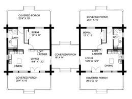 Multi Family Home Floor Plans Duplex House Plans Log Cabin Style Multi Family Home Plan 012m