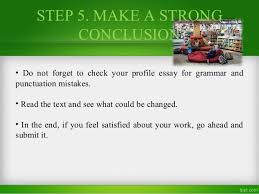 how to write a profile essay