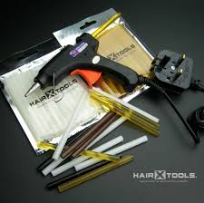 Hair Extensions With Keratin Bonds by New Hair Extensions Glue Gun Kit 12 X Keratin Glue Sticks