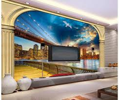 3d bathroom wallpaper roman column window outside the landscape tv 3d bathroom wallpaper roman column window outside the landscape tv wall mural painting photos home decoration in wallpapers from home improvement on