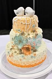 shabby chic wedding cake mint peach wedding cake ruffles and