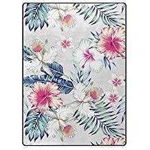 Flower Area Rug Outdoor And Indoor Tropical Area Rugs Beachfront Decor