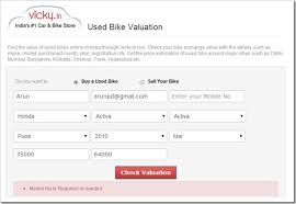 Used Car Price Estimation by In Launches India S Used Bike Valuation Tool