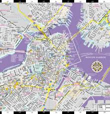 Chicago Trolley Map by Streetwise Boston Map Laminated City Center Street Map Of Boston
