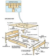 King Size Platform Bed Woodworking Plans by Made Project By Wood