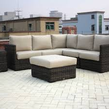 patio renaissance greenville woven 5 piece sectional outdoor