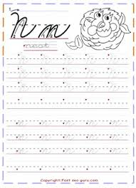 cursive handwriting tracing worksheets letter n for nest