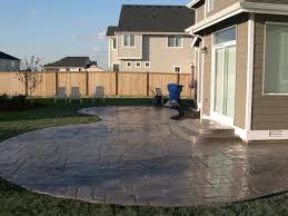 Faux Stone Patio by Concrete Arbors U0026 More