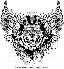 tiger with wings vector illustration tiger with vector