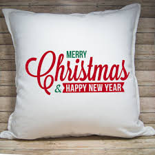 merry christmas u0026 happy new year u0027 pillow cover u2013 stinky cheese designs