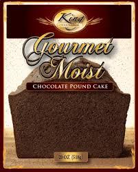 1 box chocolate pound cake mix king preferred miniature