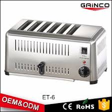 Transparent Toaster For Sale Fast Food Kitchen Equipment 6 Slice Electric Flat Transparent
