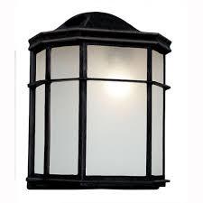 Outdoor Sconces Home Depot Hampton Bay 1 Light White Outdoor Dusk To Dawn Wall Lantern