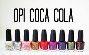 review and swatches opi coca cola collection youtube