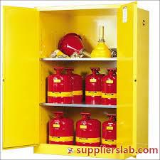 Yellow Storage Cabinet Hazardous Chemical Material Substance Storage Cabinet Hazmat