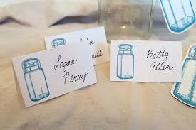 jar wedding place cards table numbers the graphics