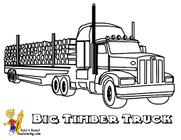 Coloring Truck Big Timber Rig At Yescoloring Color Vehicles Coloring Truck Pages