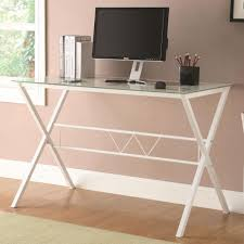 White Contemporary Desks by Desk Office Desk Glass Top For White Desk Glass Top U2013 Expensive