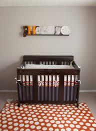 Dot Rug Life With The Arnolds Hunter U0027s Room Grey And Orange Chevron Nursery