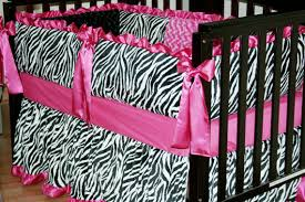 Minky Crib Bedding Minky Crib Bedding Set Black And White Zebra With Pink Satin