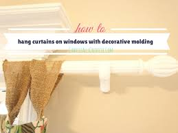 Hanging Curtains From Ceiling by How To Hang Curtain Rods On Windows With Decorative Molding