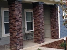 river rock porch columns