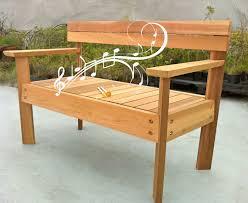 Park Bench And Table Musical Garden Bench Marimba Cedar Bench Musical Garden