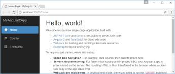 asp net core angular 2 template for visual studio
