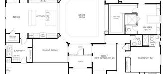 Great Room Floor Plans Single Story Nice House Plans