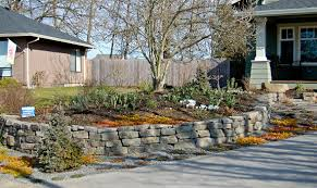 Garden Rock Wall Boulder Placement Rock Walls And Concrete Block Walls