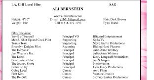 Blizzard Resume Ali Bernstein