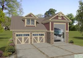 House Plans With Rv Garage by A0803 Rv Garage 7 With Living Area Craftsman Maroon Vertical
