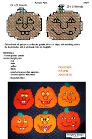 Halloween Pumpkin Crafts 35 Best Halloween Plastic Canvas Patterns Images On Pinterest