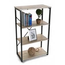 étagère à poser sur bureau etagere de bureau a poser structure metal noir et bois 4 niveaux