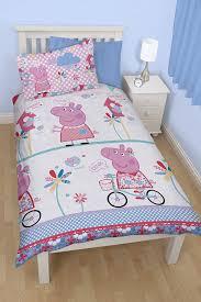 Peppa Pig Bed Set by Character World Peppa Pig Tweet Single Rotary Duvet Set Amazon Co