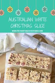 white christmas slice recipe cranberry rice australian