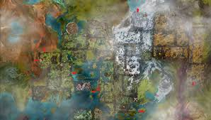 Gw2 World Map by The Egg Baron Impassible Barriers In Tyria