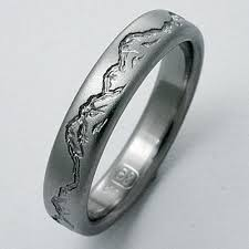 titanium wedding bands montana 2 titanium ring with mountains titanium wedding rings