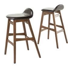 Mango Wood Bar Stools Modern Saddle Seat Bar Stools Counter Stools Allmodern