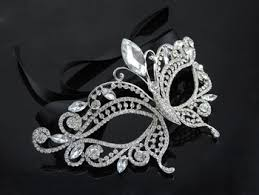 silver masks queena luxury silver fashion masquerade masks butterfly